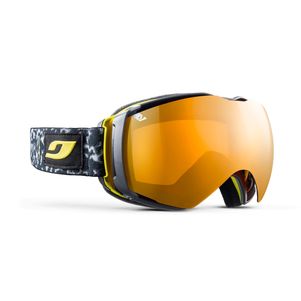 JULBO Airflux Goggles, Tortoiseshell Gray/Yellow - Mirror Spectron Double Lens Cat. 3 - TORT GREY/YELLOW