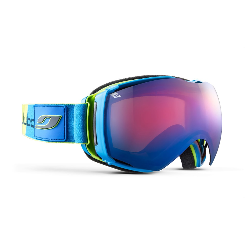 JULBO Airflux Goggles, Blue/Green - Mirror Spectron Double Lens Cat. 2 - GREEN/BLUE