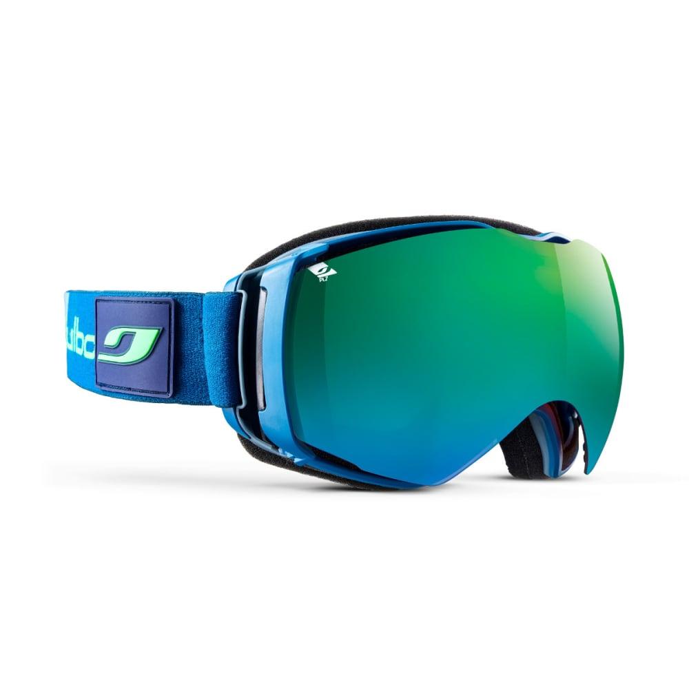 JULBO Airflux Goggles, Blue - Mirror Spectron Polarizing Double Lens - MILITARY BLUE/GREEN