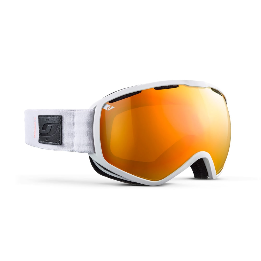 JULBO Atlas Goggles, White/Orange - Mirror Spectron Double Lens Cat. 3 - WHITE/ORANGE