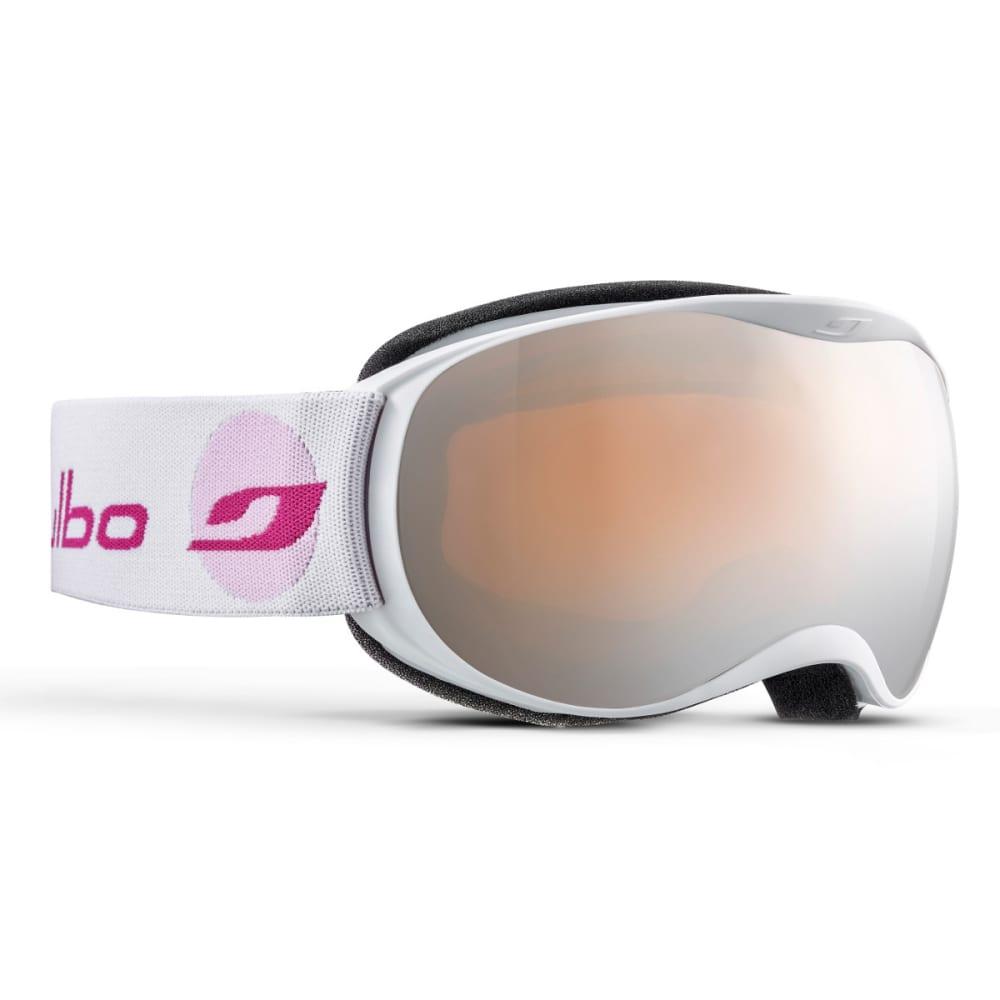 JULBO Atmo Goggles, White/Pink - Mirror Spectron Double Lens Cat. 3 - WHITE/PINK