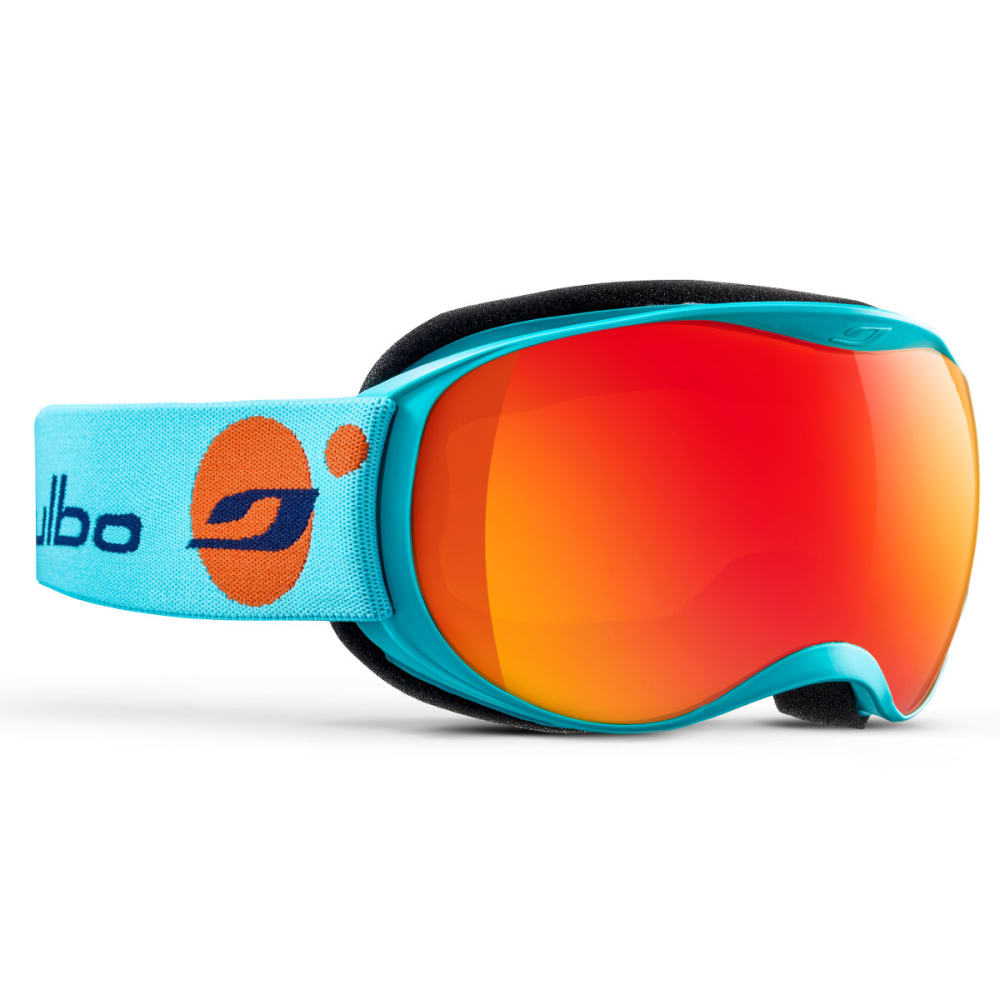 JULBO Atmo Goggles, Sky Blue/Orange - Mirror Spectron Double Lens Cat. 3 - CYAN BLUE/ORANGE