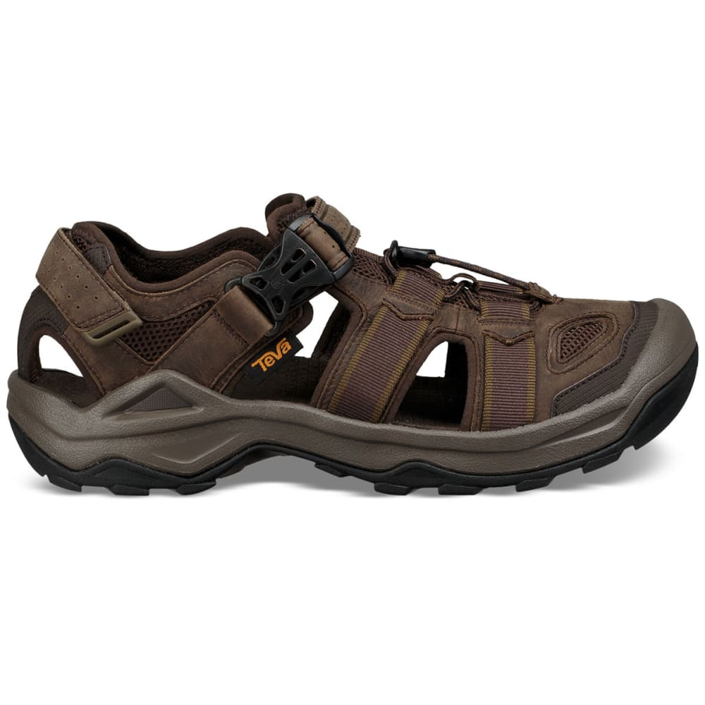 TEVA Men's Omnium 2 Leather Hiking Sandals - TURKISH COFEE