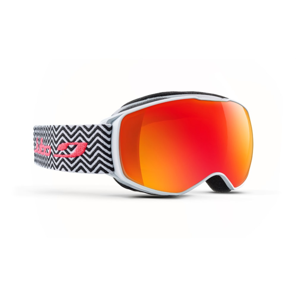 JULBO Youth Echo Snow Goggles, Black White Tweed/Multi-layer Red - BLACK/WHITE TEED