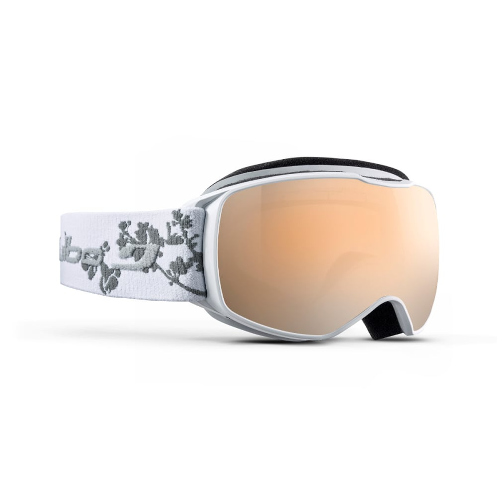 JULBO Youth Echo Snow Goggles, White Flower/Silver Flash - WHITE/FLOWER