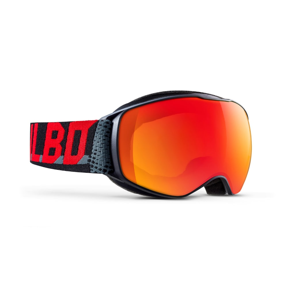 JULBO Youth Echo Snow Goggles, Black Grey Red Moto/Multi-layer Red - BLACK/GREY/RED