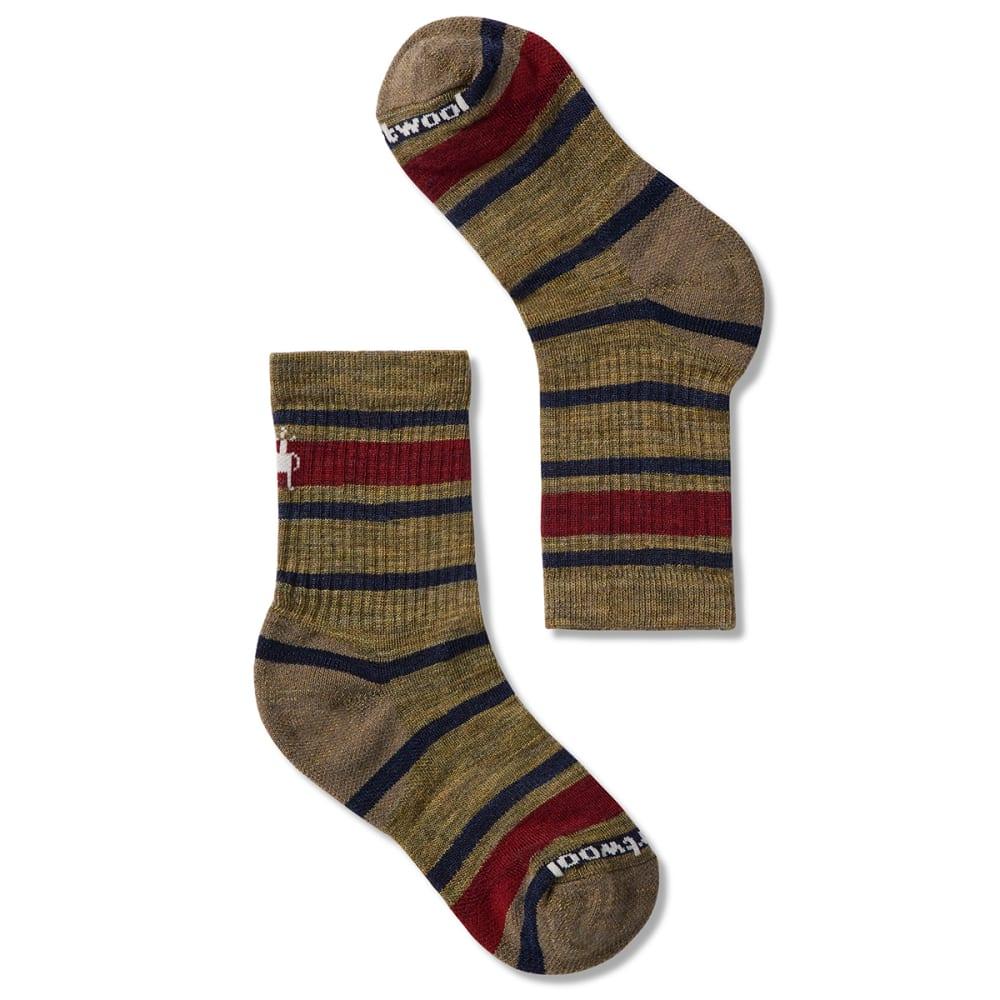 SMARTWOOL Kids' Striped Hike Light Crew Socks S