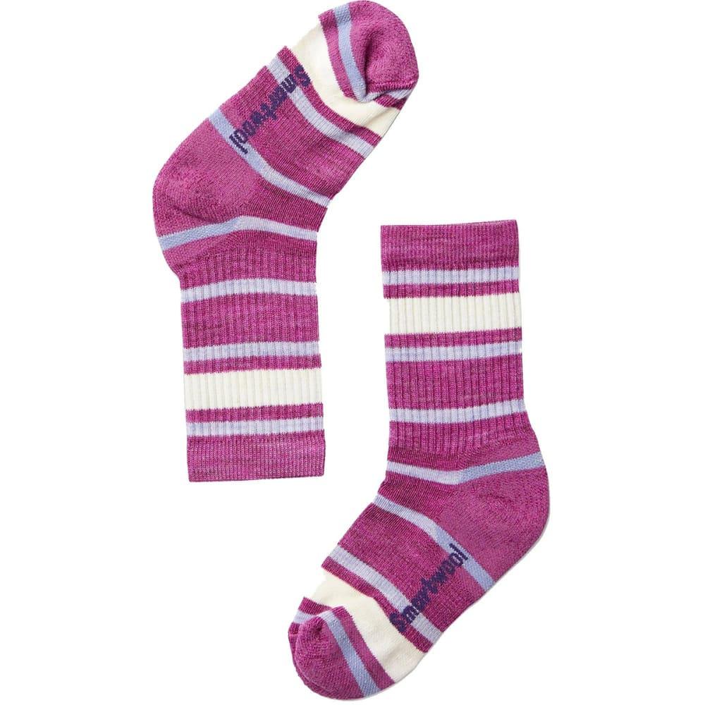 SMARTWOOL Kids' Striped Hike Light Crew Socks M