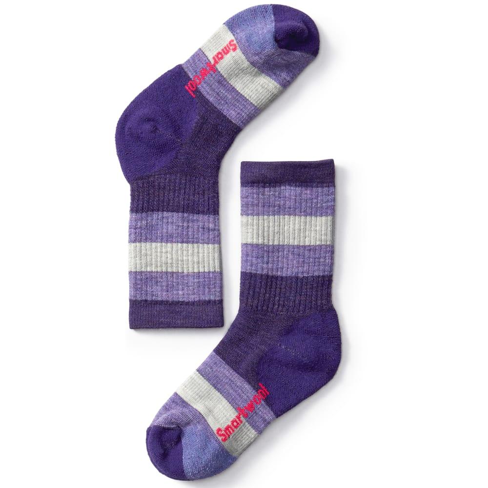 SMARTWOOL Kids' Striped Hike Medium Crew Socks - 591-MOUNTAIN PURPLE