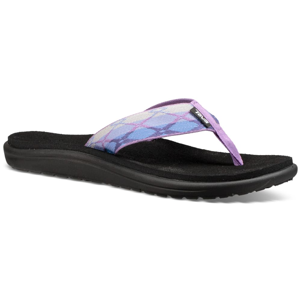 TEVA Women's Voya Flip Sandals - PURPLE