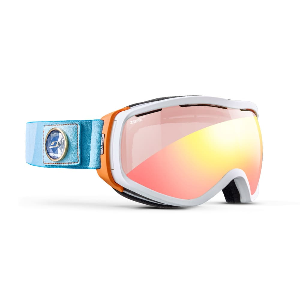 JULBO Elara OTG Goggles, White/Turquoise - WHITE/ORANGE/TURQ