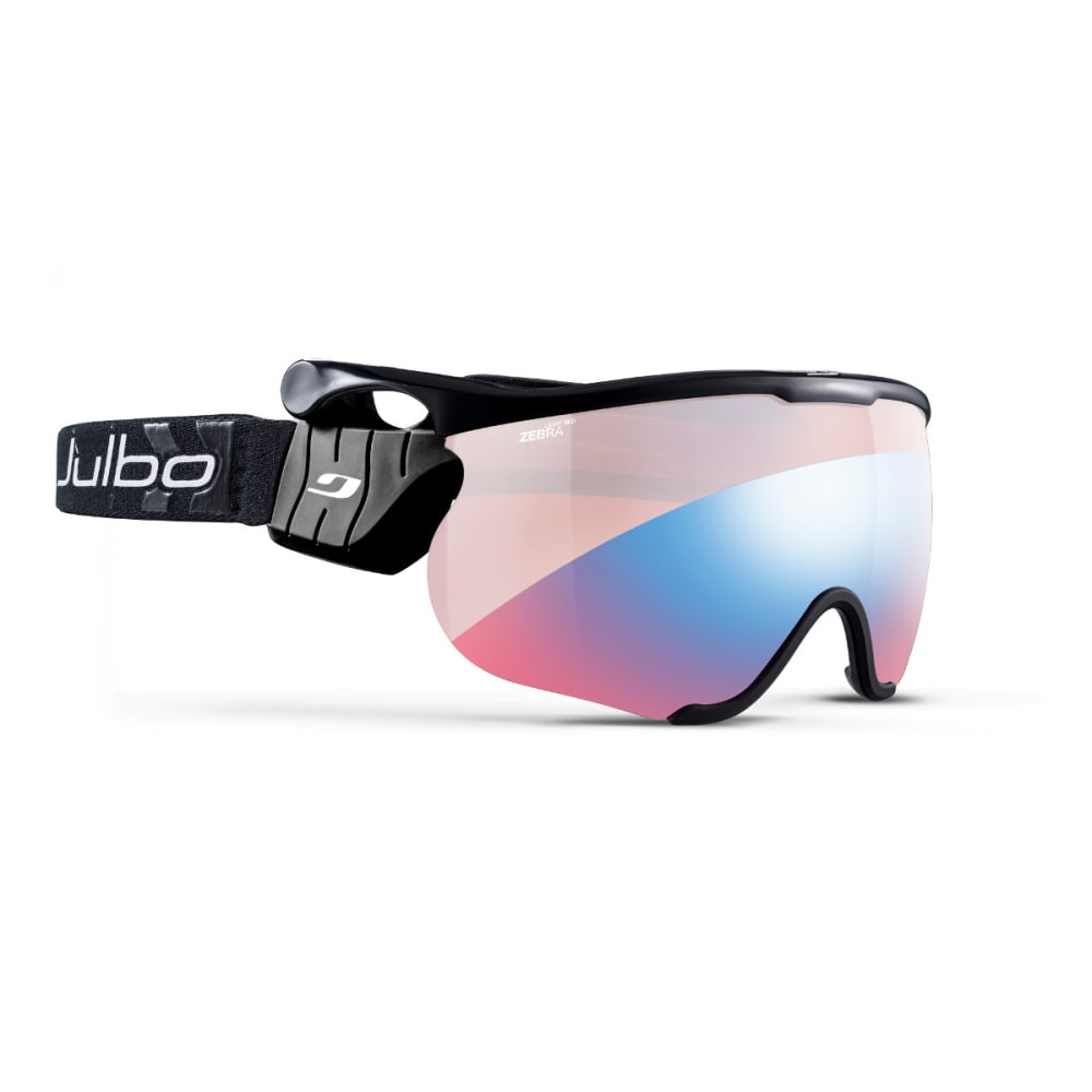 JULBO Sniper L Goggles, Black/Black - Zebra Light Red - BLACK/BLACK
