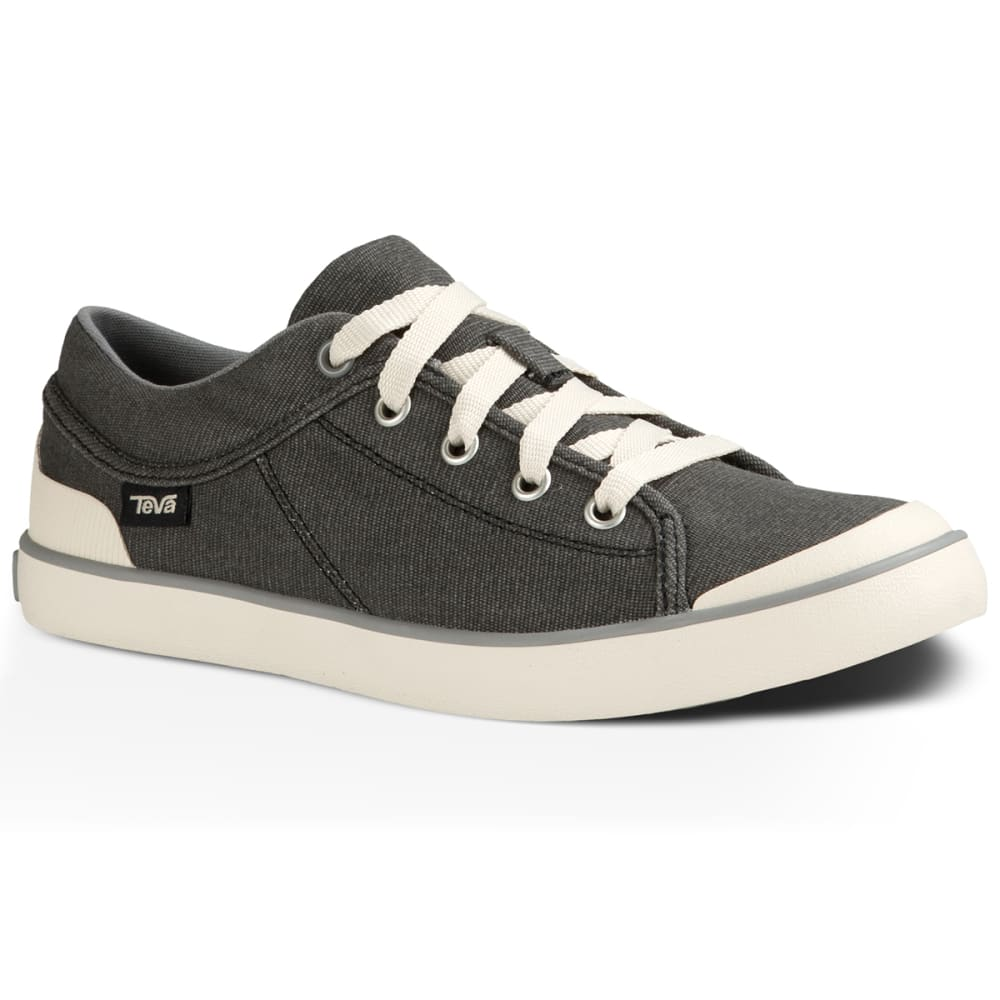 TEVA Women's Freewheel Washed Canvas Sneakers - BLACK