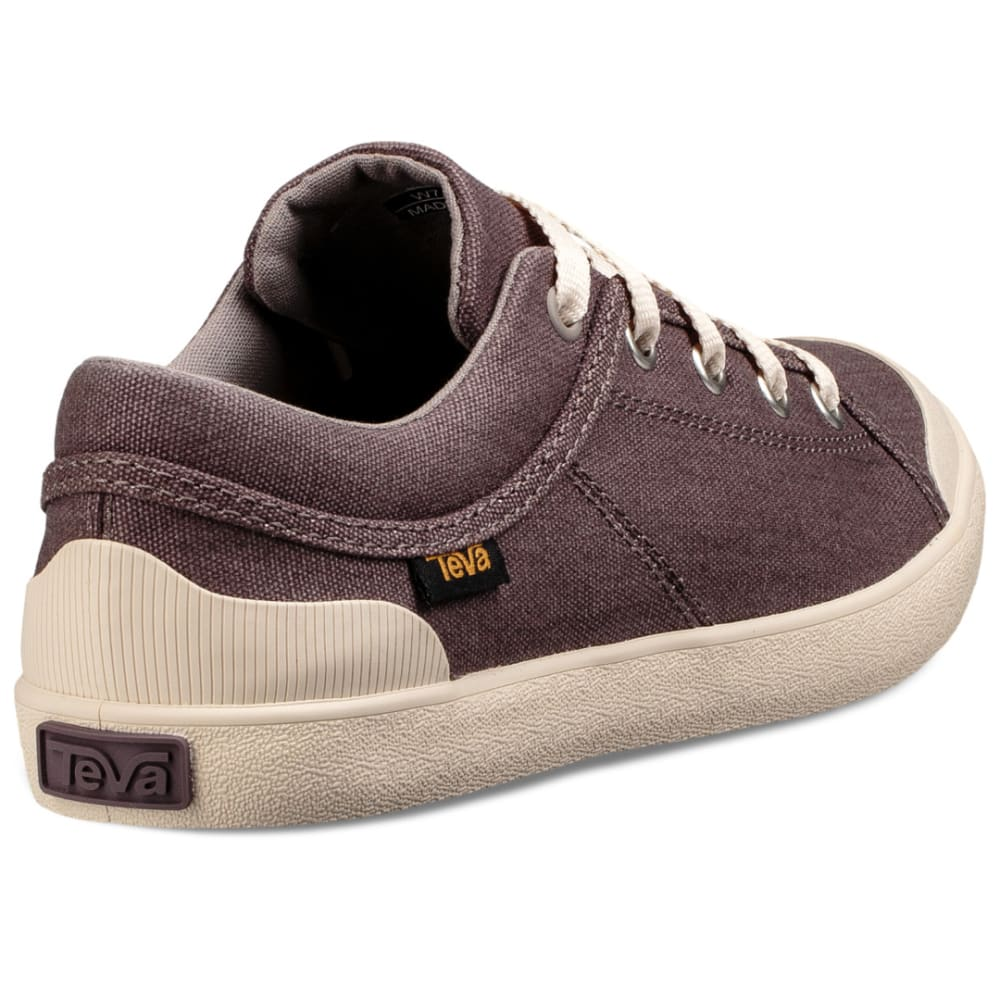 TEVA Women's Freewheel Washed Canvas Sneakers - PLUM TRUFFLE