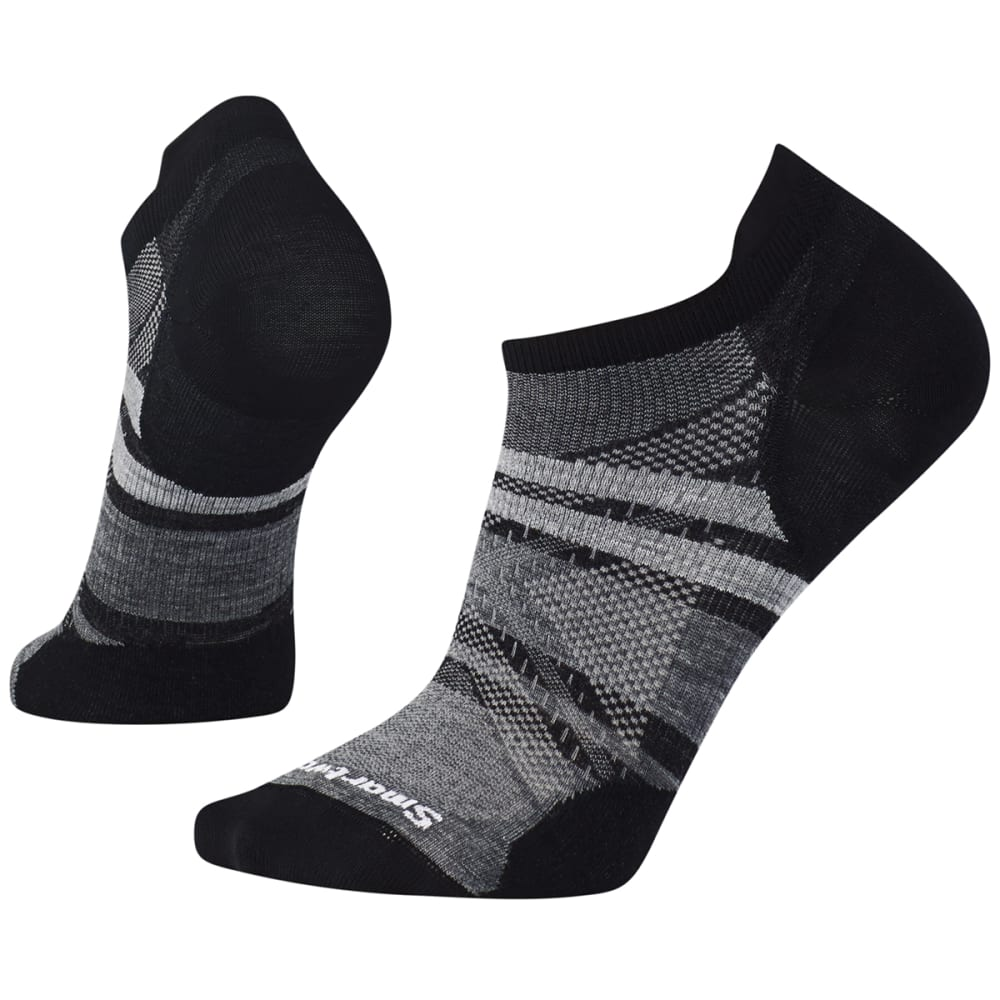 SMARTWOOL Men's PhD Run Ultra Light Pattern Micro Socks - 001-BLK