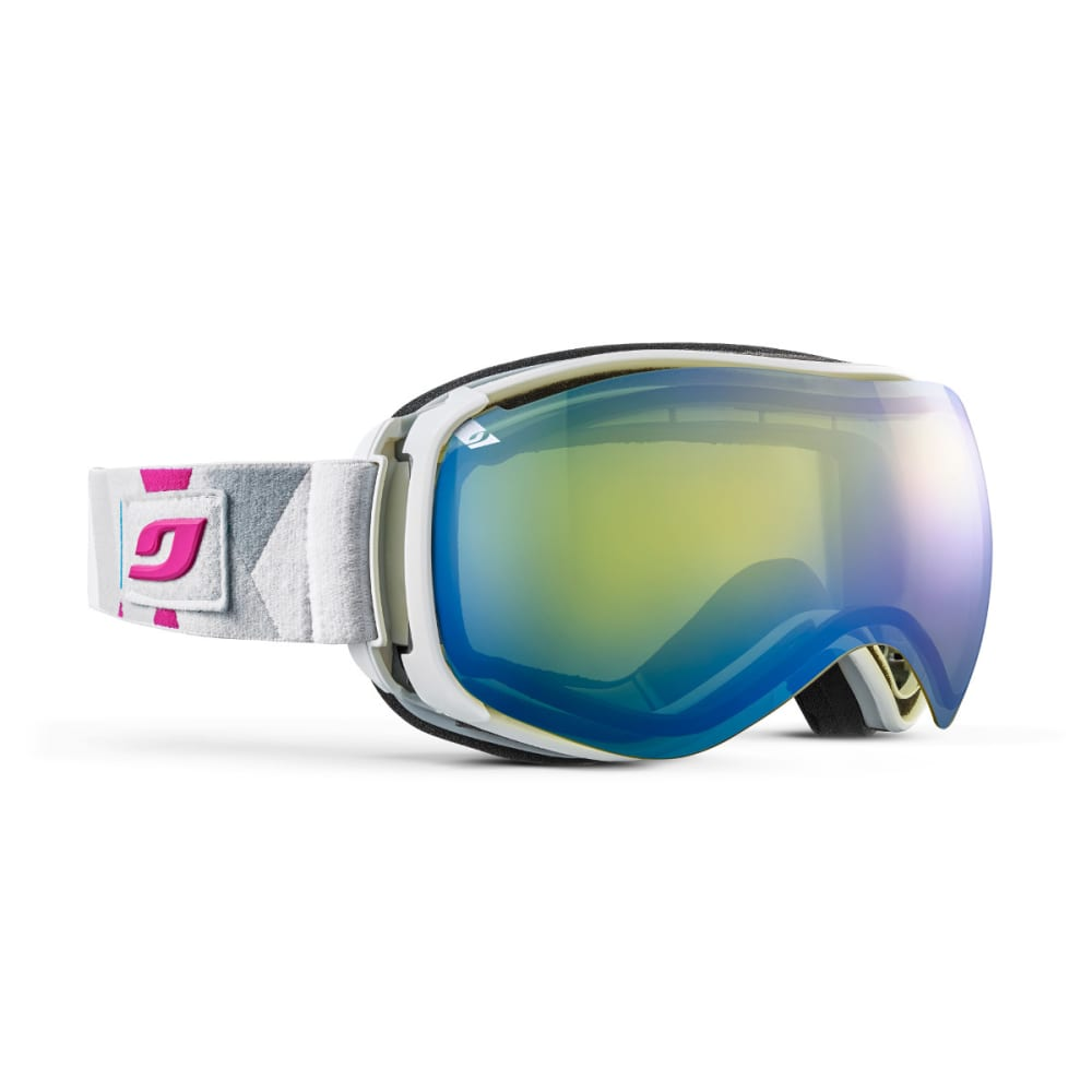 JULBO Ventilate Goggles, Blue/White/Pink - Double lens cat. 1 - White/Blue/Pink