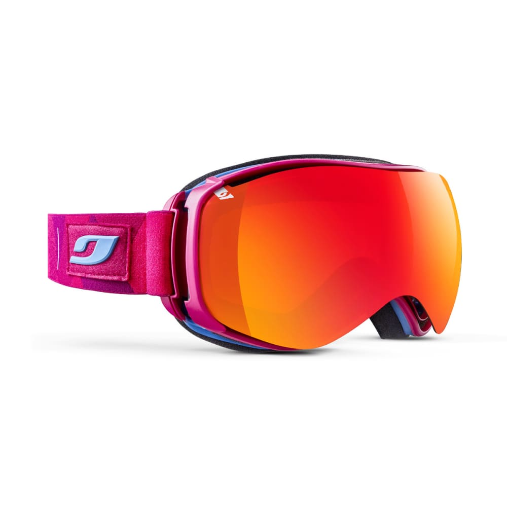 JULBO Ventilate Goggles, Kaleido Fluo Pink - Mirror Spectron Double Lens Cat. 3 - FLUORSCENT PINK