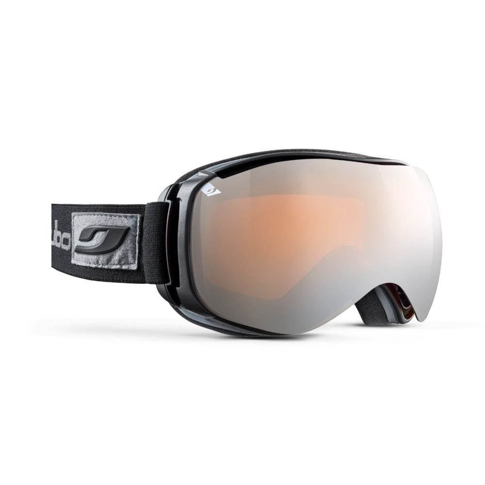 JULBO Ventilate Goggles, Black - Mirror Spectron Double Lens Cat. 3 - BLACK