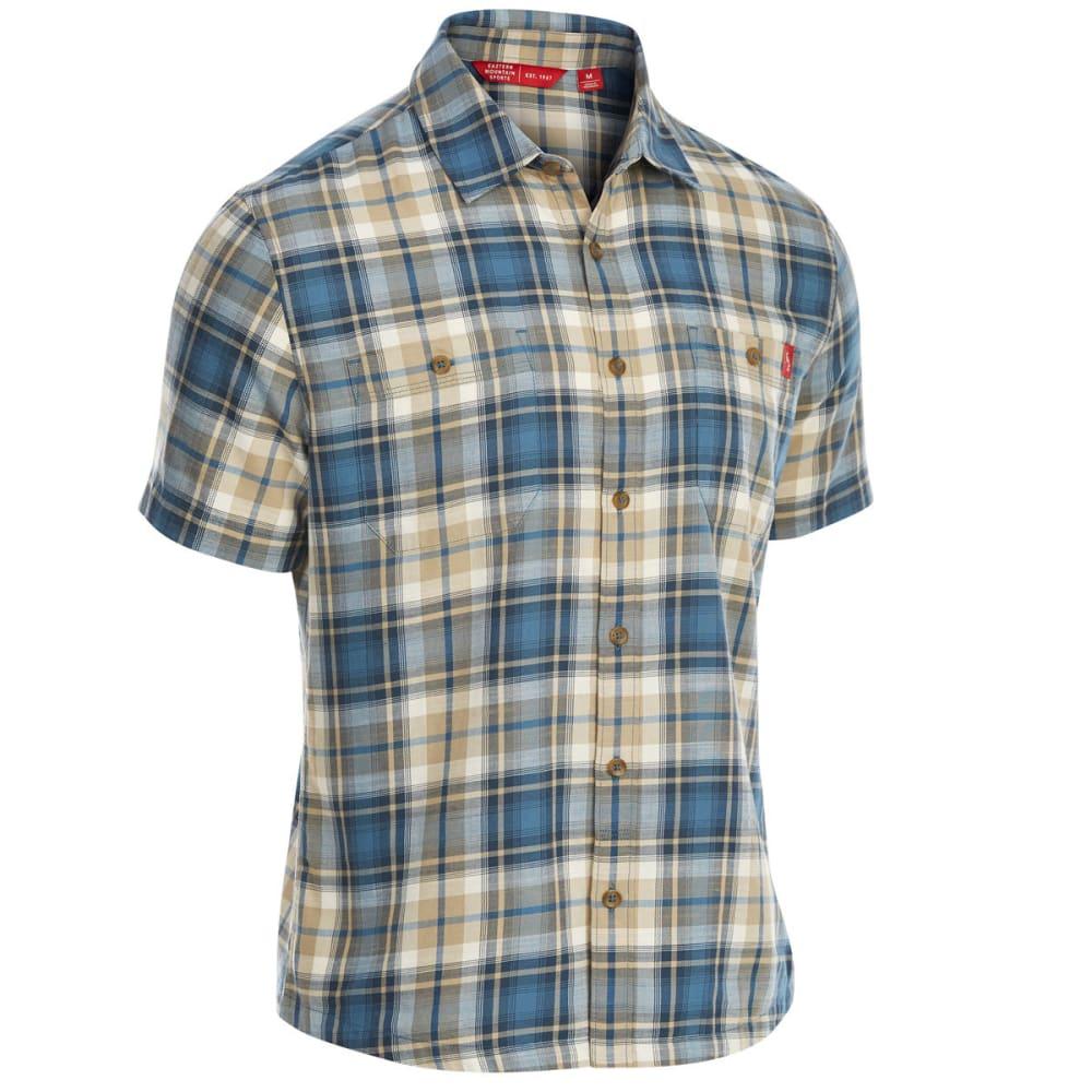 EMS Men's Ranger Plaid Short-Sleeve Shirt - CHINCHILLA