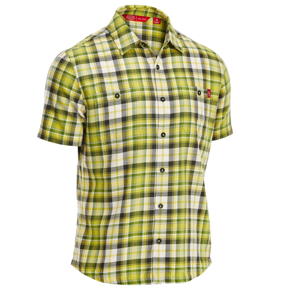 EMS Men's Ranger Plaid Short-Sleeve Shirt - TWIST OF LIME