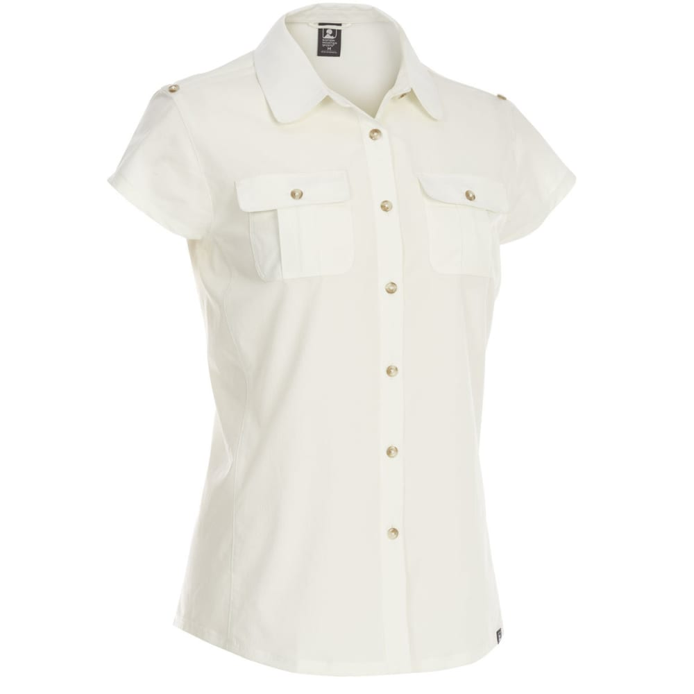 EMS Women's Techwick Traverse UPF Short-Sleeve Shirt - COCONUT MILK