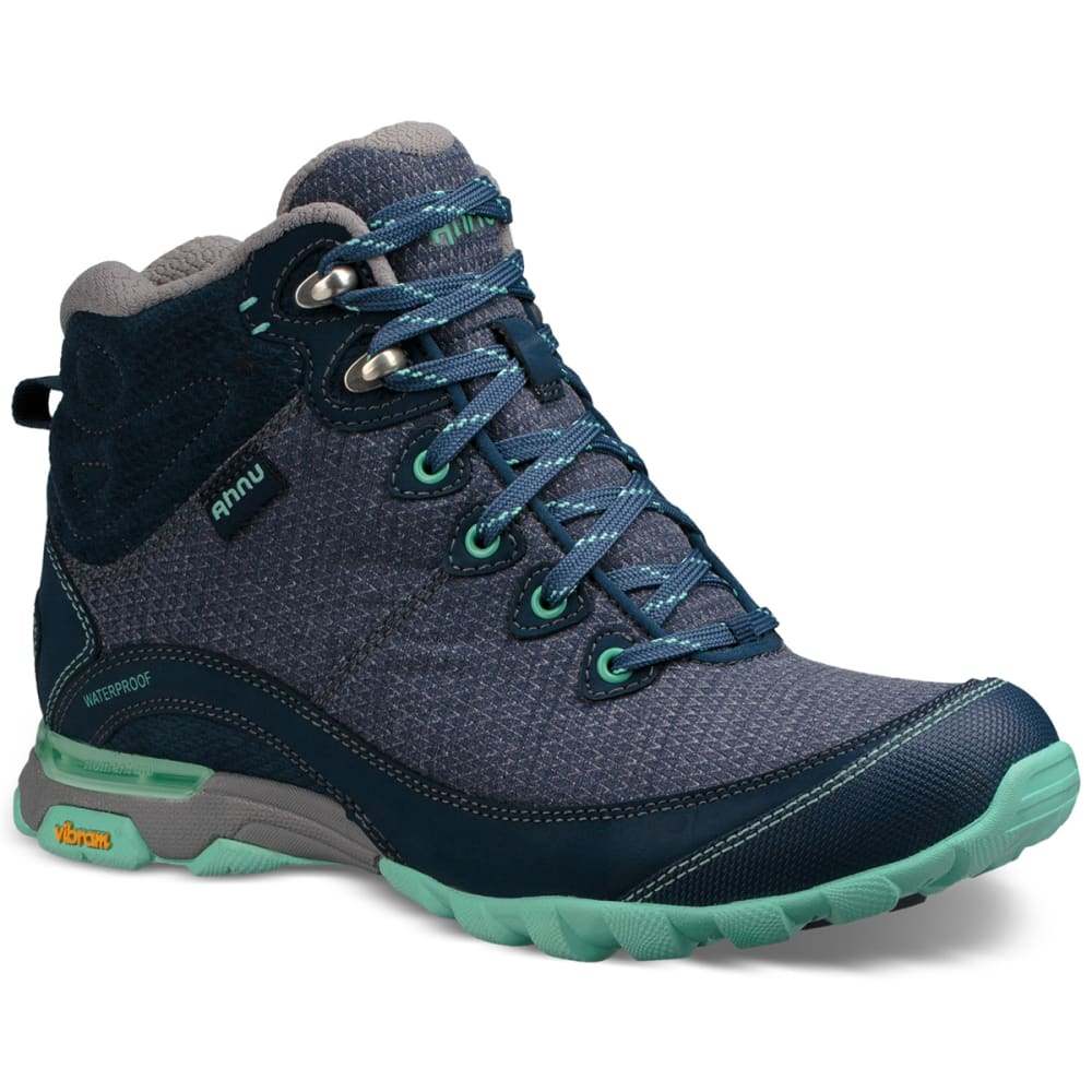 Ahnu Women's Sugarpine Ii Mid Waterproof Hiking Boots - Blue - Size 6 1019231 BLU