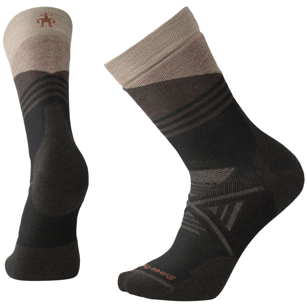 SMARTWOOL Men's PhD Outdoor Medium Pattern Crew Socks - 001-BLACK