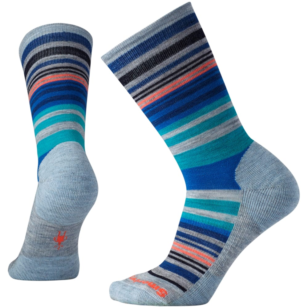 SMARTWOOL Women's Jovian Stripe Socks - 557-BLUE ICE HTR
