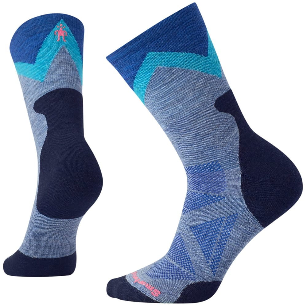 SMARTWOOL Women's PhD Outdoor Approach Crew Socks - 474-BLUE STEEL