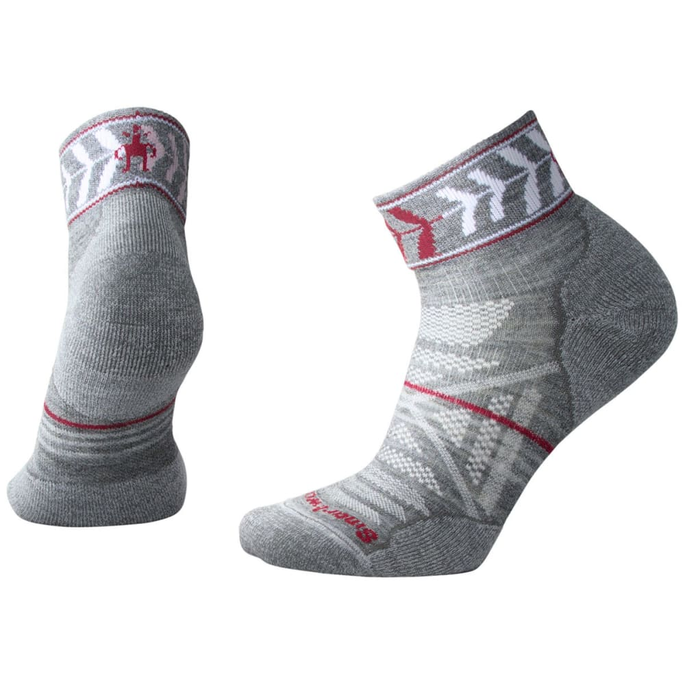 SMARTWOOL Women's PhD Outdoor Light Pattern Mini Socks - 052-MED GREY