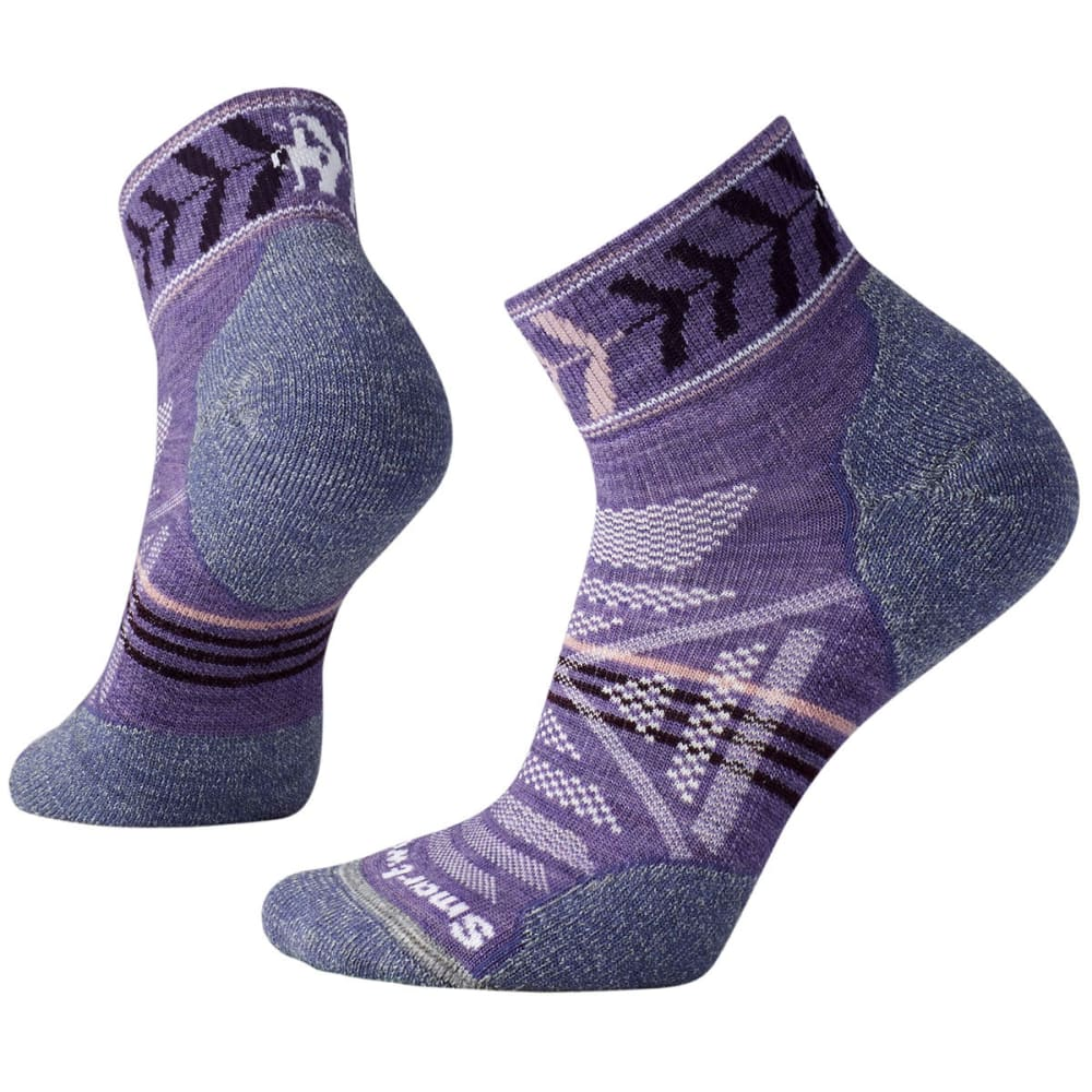 SMARTWOOL Women's PhD Outdoor Light Pattern Mini Socks - 511-LAVENDER