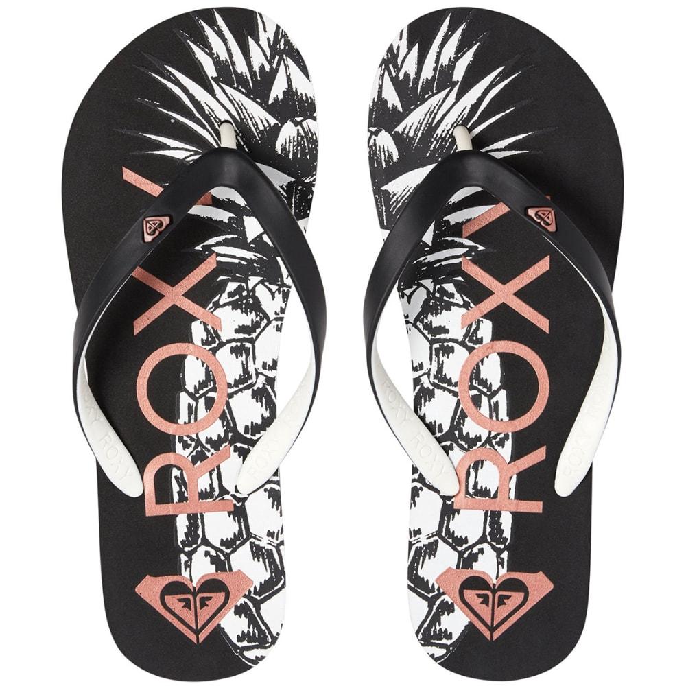 ROXY Women's Tahiti VI Flip Flops - BLACK