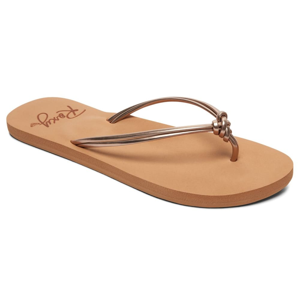 ROXY Women's Lahaina III Flip Flops - ROSE GOLD