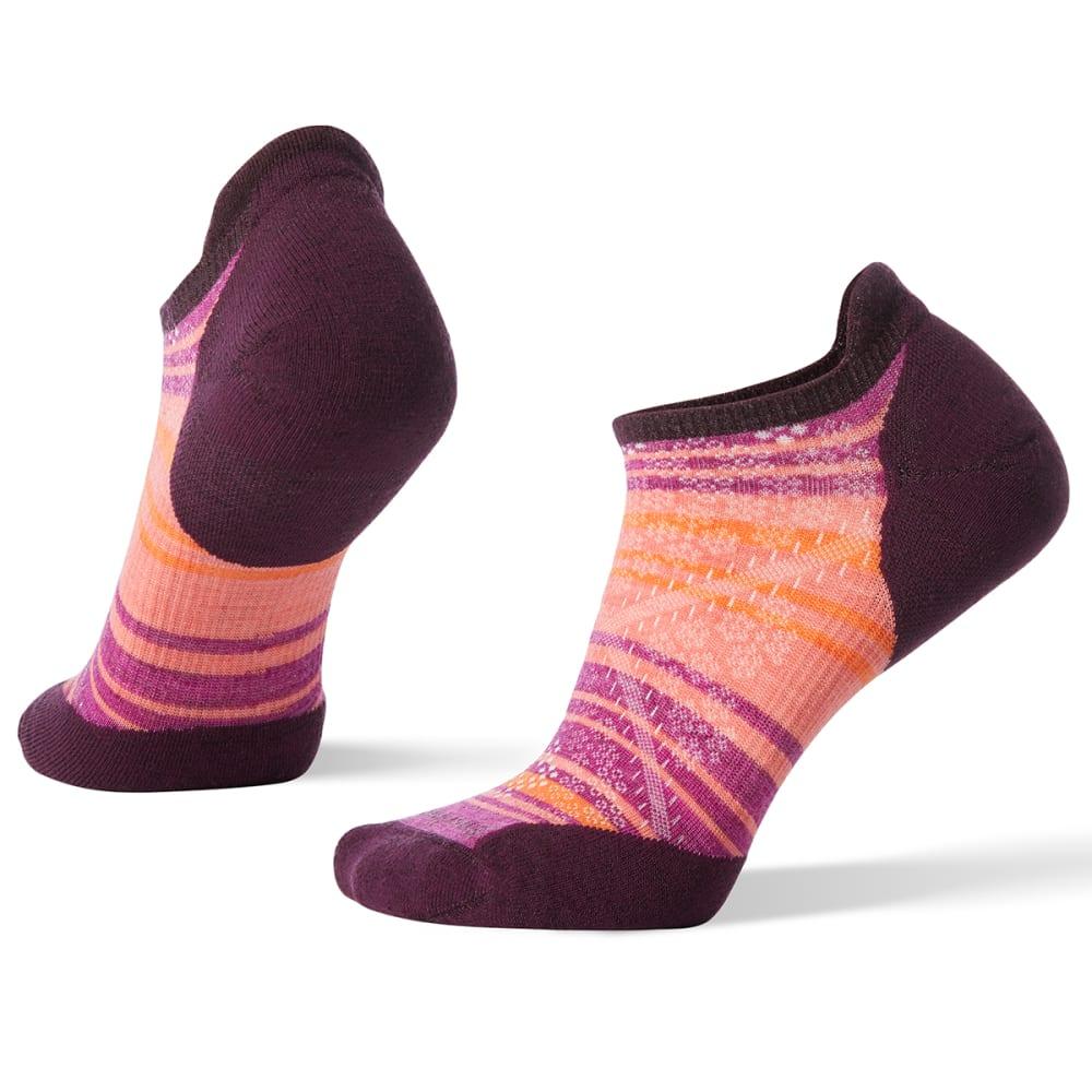SMARTWOOL Women's PhD Run Light Elite Striped Micro Socks - 590-BORDEAUX