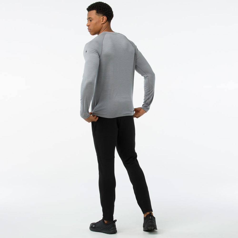 SMARTWOOL Men's Merino 150 Micro Stripe Long-Sleeve Base Layer Shirt - 039-LIGHT GRAY