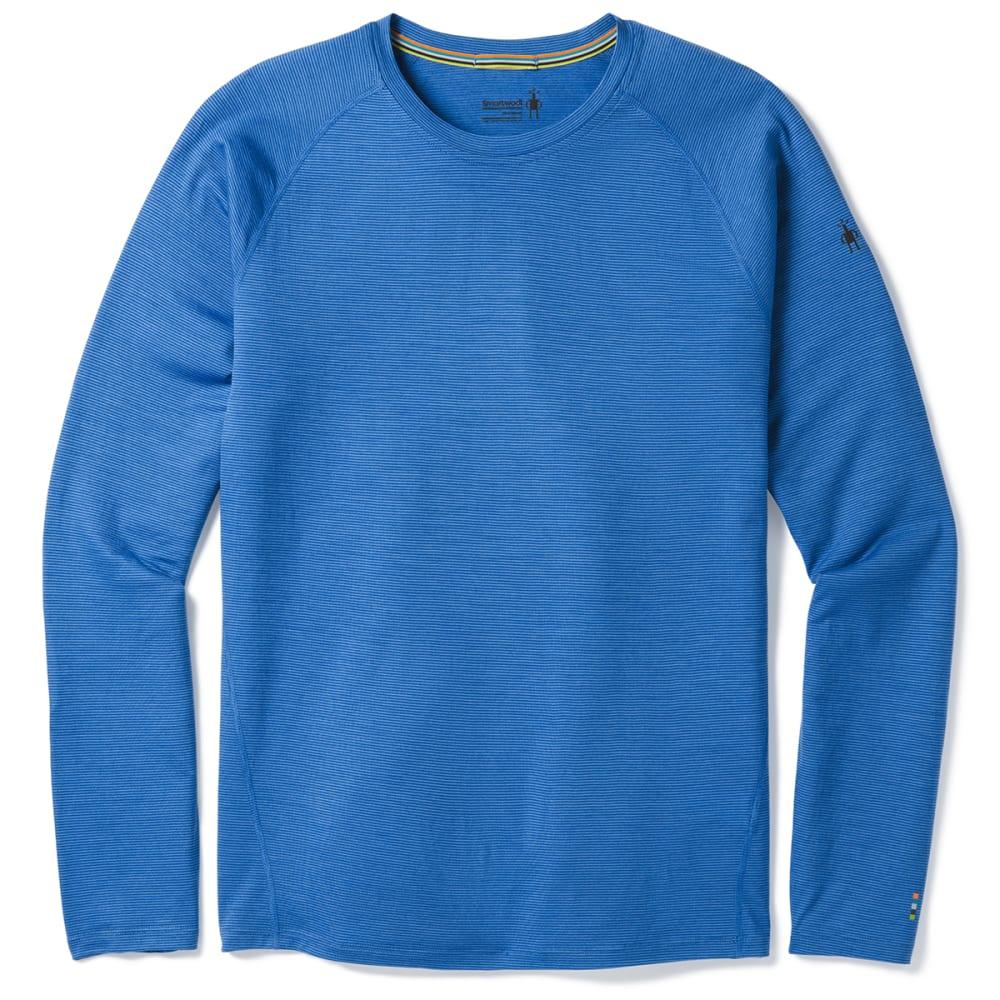 SMARTWOOL Men's Merino 150 Micro Stripe Long-Sleeve Base Layer Shirt - a28-bright cobalt