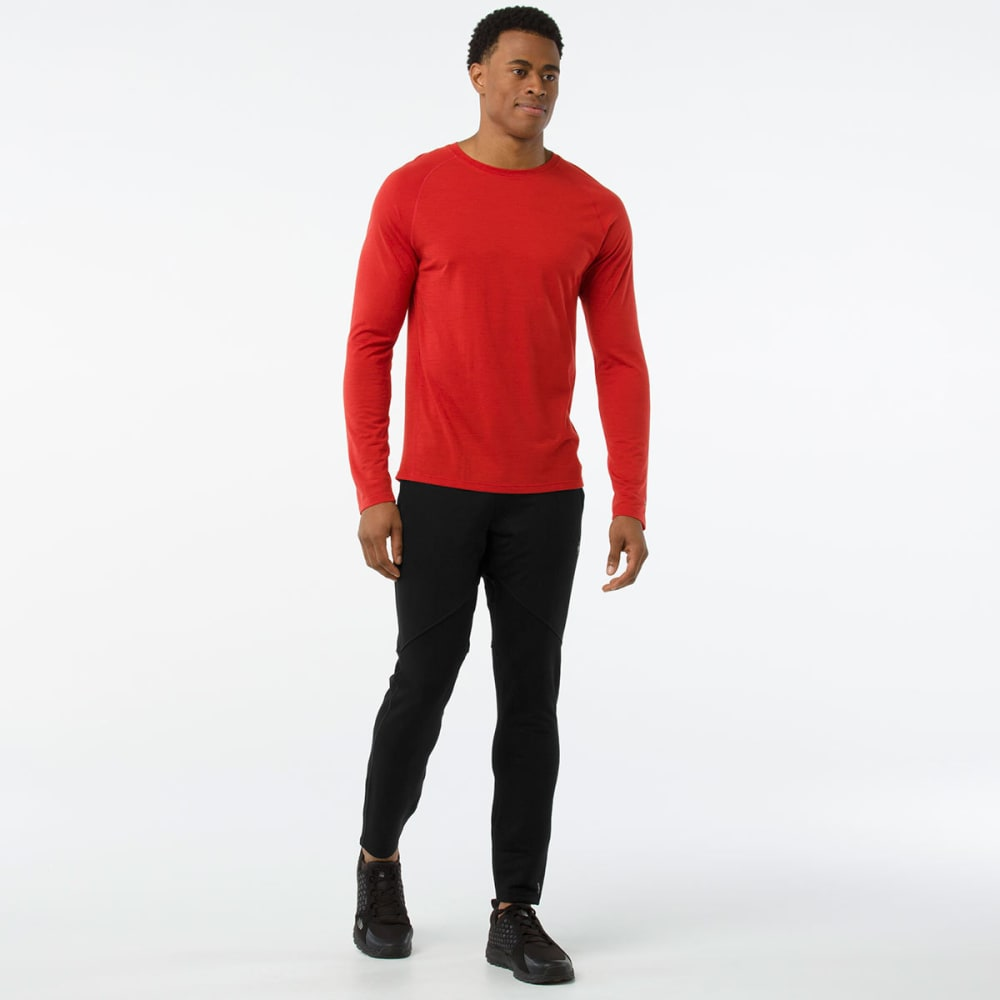 SMARTWOOL Men's Merino 150 Micro Stripe Long-Sleeve Base Layer Shirt - 823-TANDOORI ORANGE