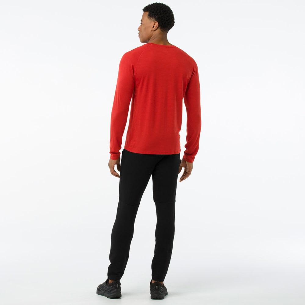 SMARTWOOL Men's Merino 150 Micro Stripe Long-Sleeve Base Layer Shirt - 823-TANDOORI ORANGE