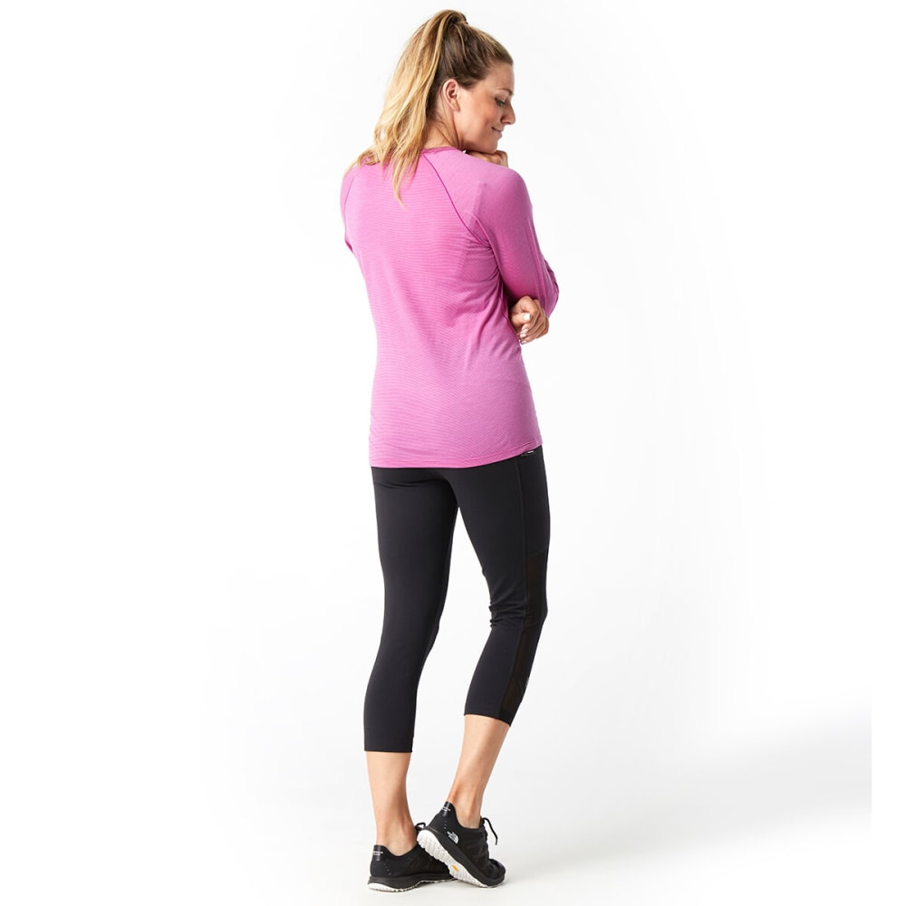 SMARTWOOL Women's Merino 150 Pattern Long-Sleeve Base Layer - A22-MEADOW MAUVE
