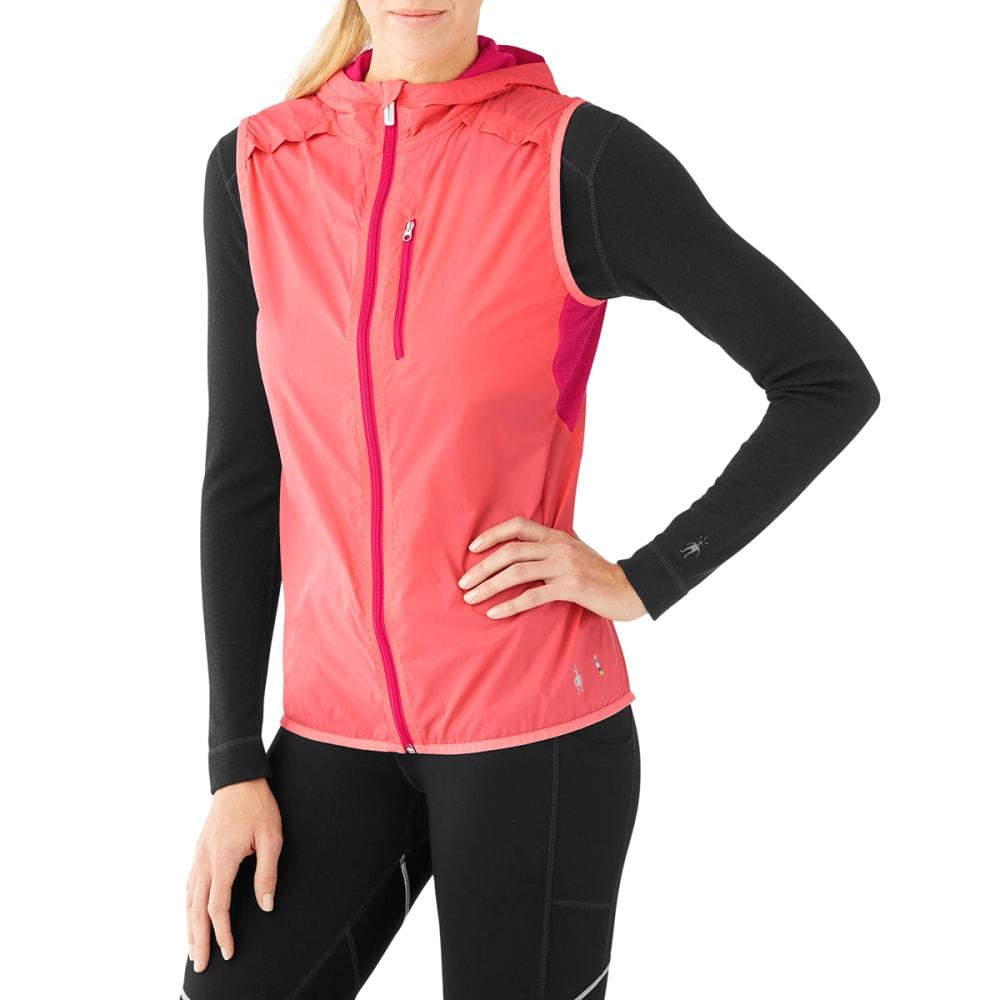 SMARTWOOL Women's PhD Ultra Light Sport Vest - 494-BRIGHT CORAL