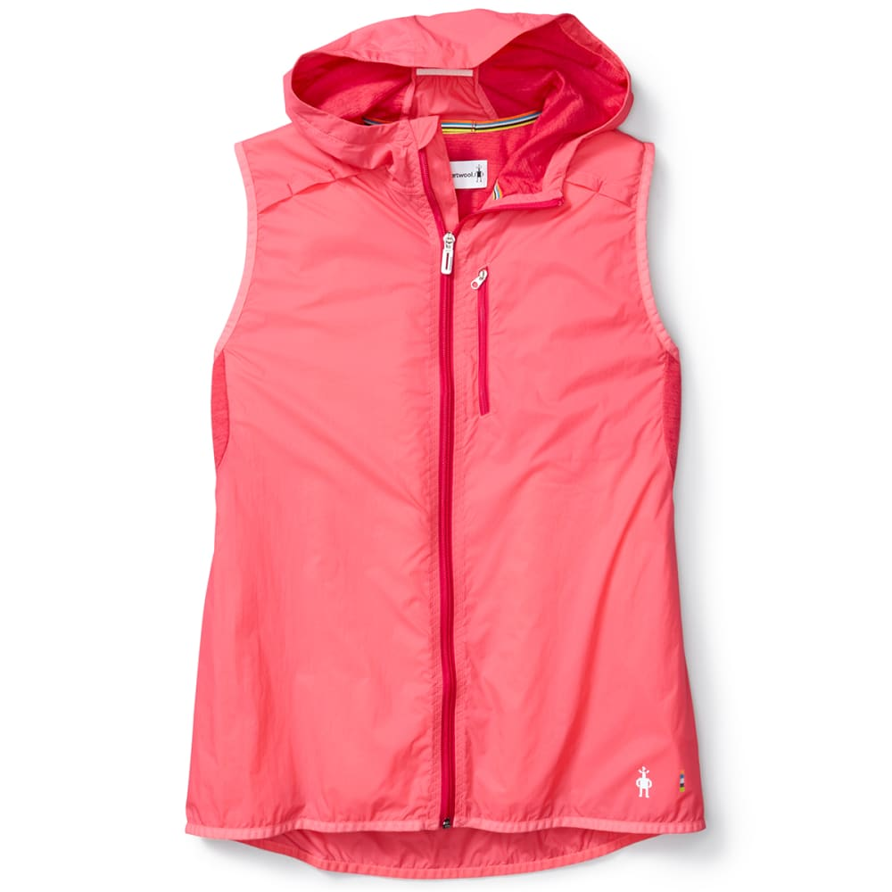 SMARTWOOL Women's PhD Ultra Light Sport Vest - 494-BRIGHT CORAL