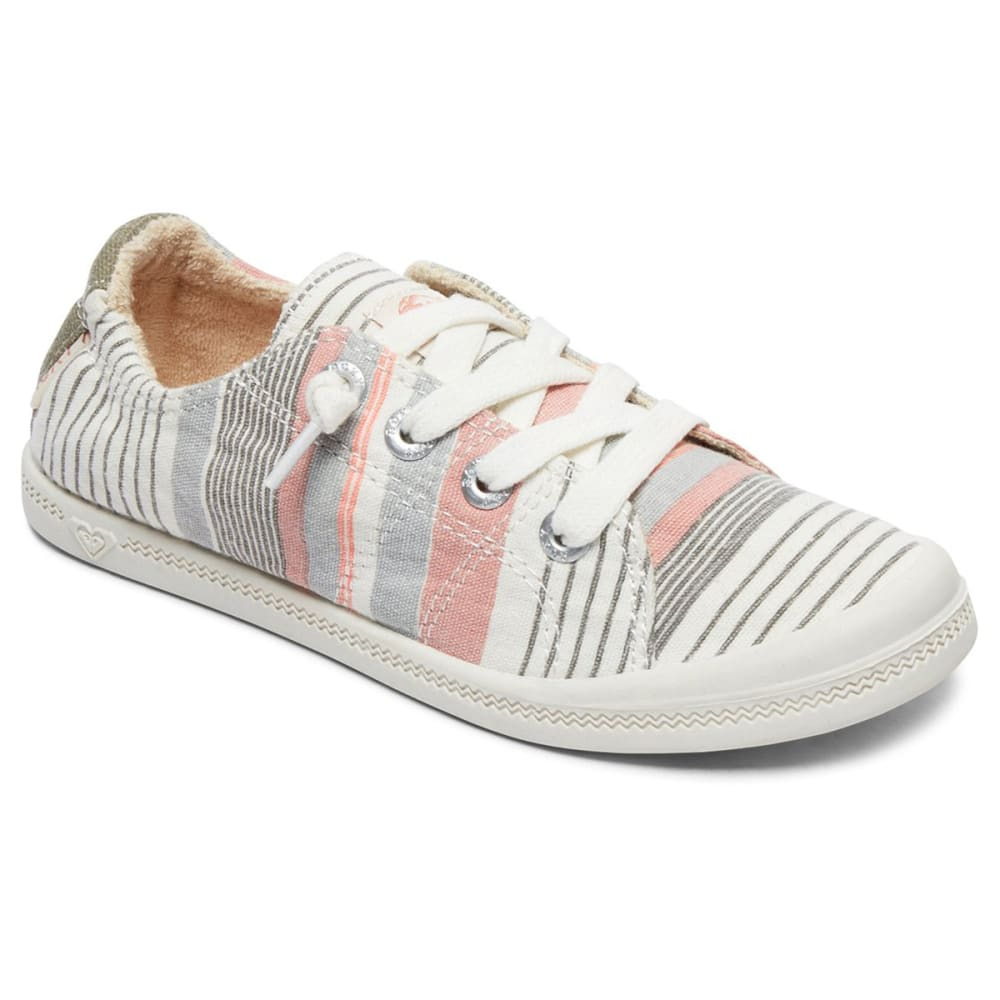 ROXY Girls' Bayshore III Multi-Stripe Lace-Up Casual Shoes - MULTI STRIPE
