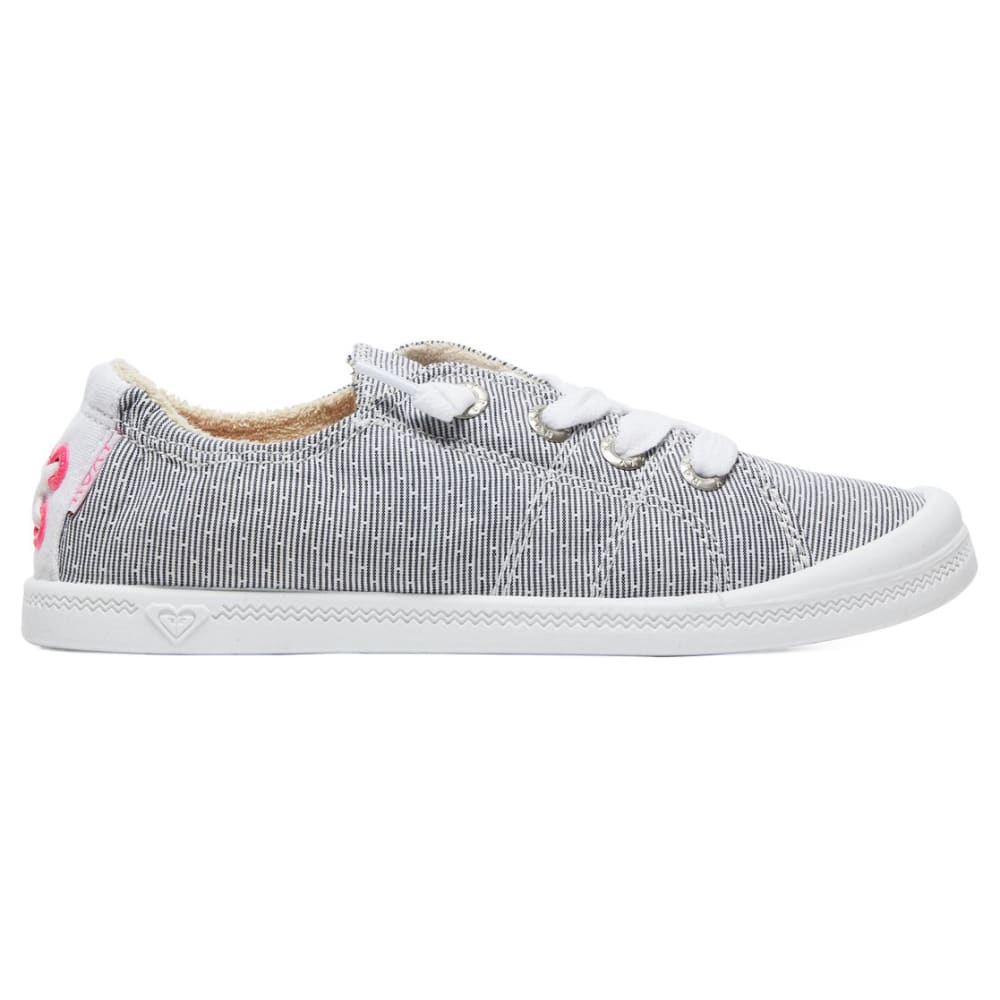 ROXY Girls' Bayshore III Lace-Up Casual Shoes - GRY/WHT-GWH