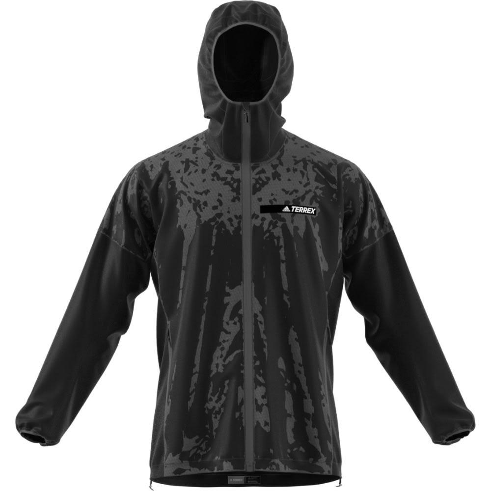 ADIDAS Men's Terrex Agravic Alpha Hooded Shield - BLACK