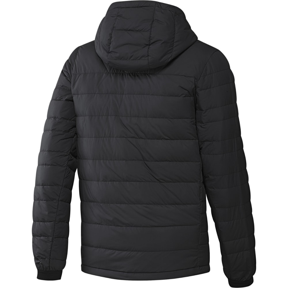 ADIDAS Men's Climawarm Nuvic Hooded Down Jacket - BLACK/WHITE