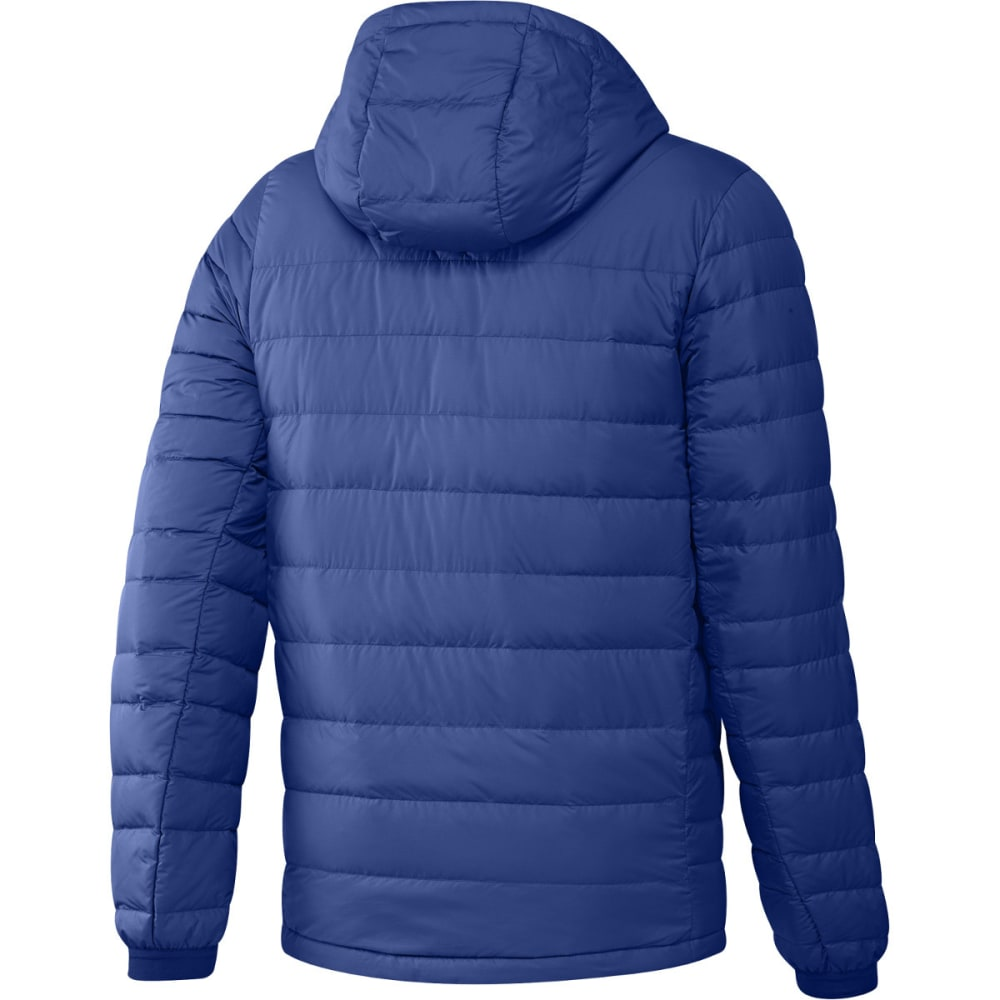 ADIDAS Men's Climawarm Nuvic Hooded Down Jacket - ROYAL/WHITE