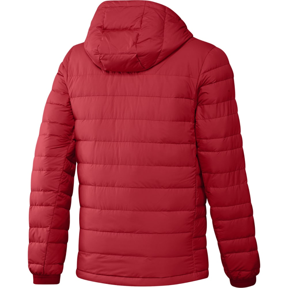 ADIDAS Men's Climawarm Nuvic Hooded Down Jacket - SCARLET/BLACK