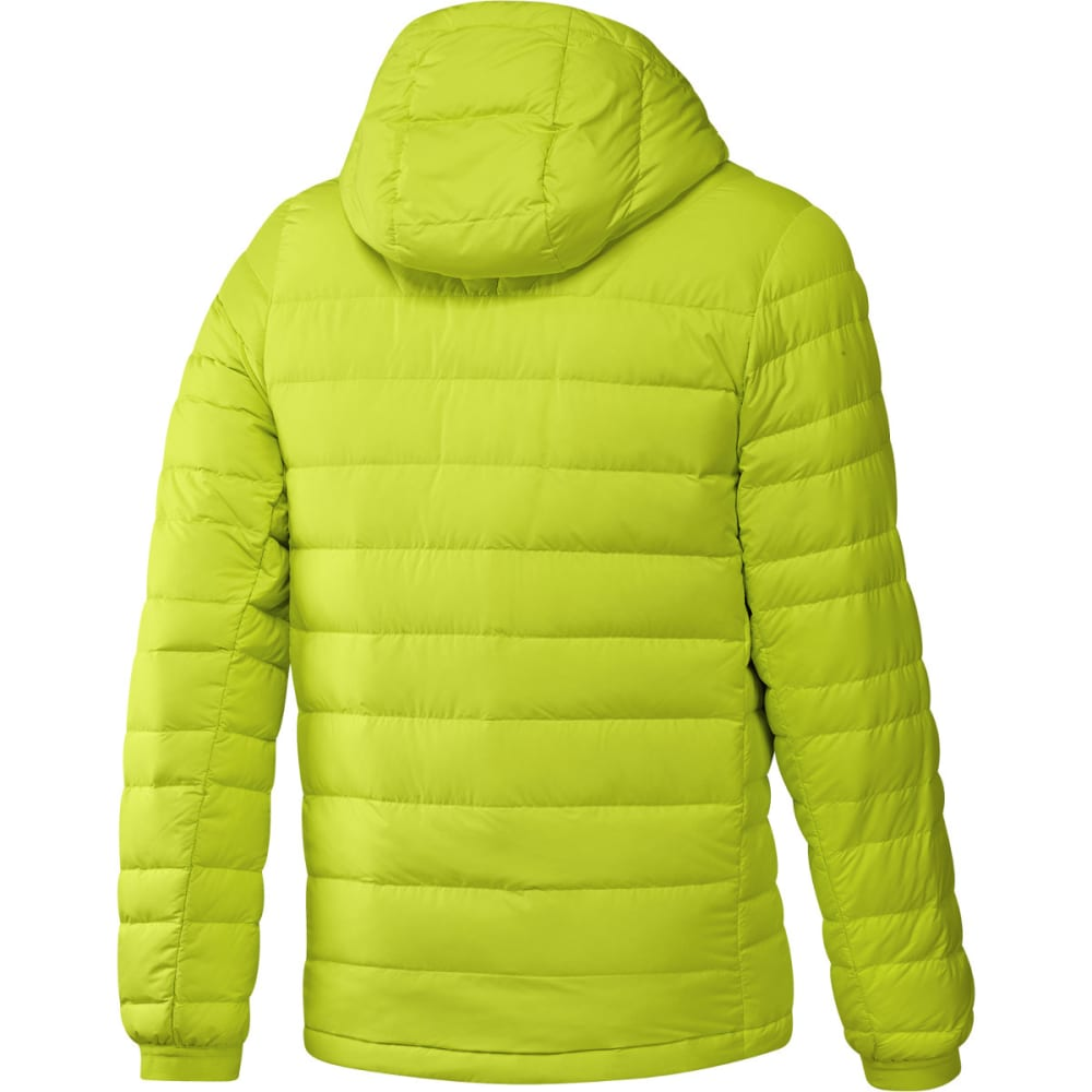 ADIDAS Men's Climawarm Nuvic Hooded Down Jacket - SOLAR YELLOW/BLACK