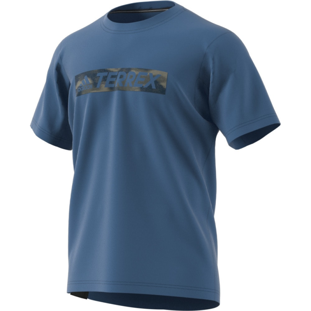 ADIDAS Men's Terrex Logo Bar Tee - CORE BLUE