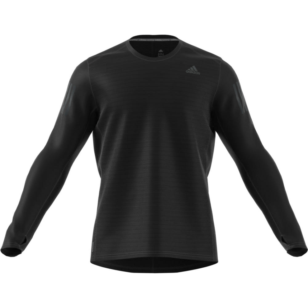 ADIDAS Men's Response Long Sleeve Tee - BLACK